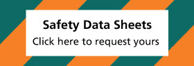 Safety Data Sheet banner providing hyperlink to info on Safety Data Sheets